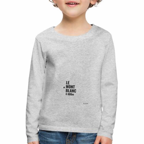 Mont Blanc et courbes de niveau - T-shirt manches longues Premium Enfant