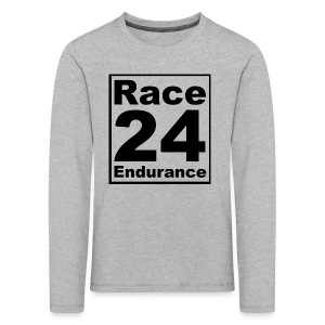 Race24 logo in black - Kids' Premium Longsleeve Shirt