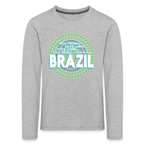 Lemon Brazil Mandala - T-shirt manches longues Premium Enfant