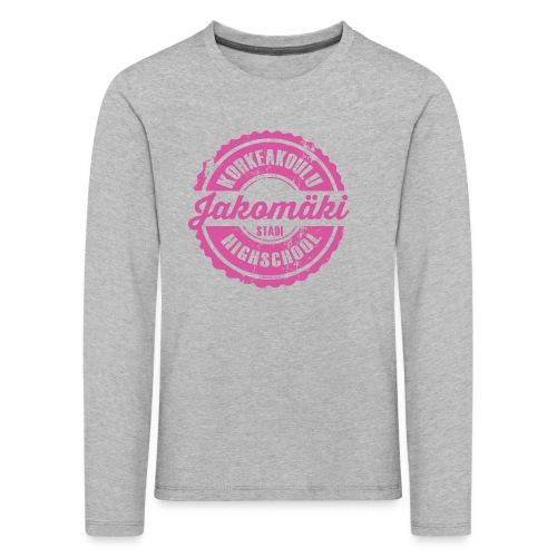 77P-JAKOMÄEN KORKEAKOULU - Stadi, Helsinki - Lasten premium pitkähihainen t-paita