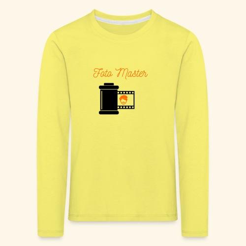 Foto Master - Børne premium T-shirt med lange ærmer