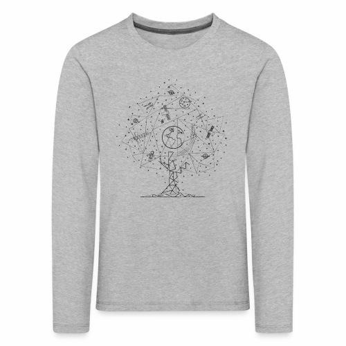 Interpretacja woodspace - Koszulka dziecięca Premium z długim rękawem