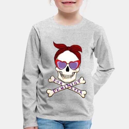 Feminist skull - Camiseta de manga larga premium niño