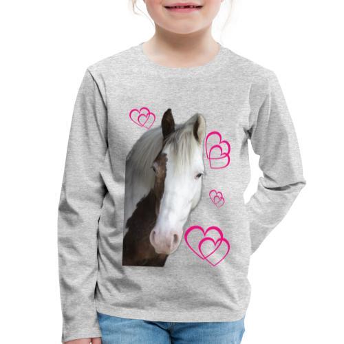 Hästälskare (Daisy) - Långärmad premium-T-shirt barn