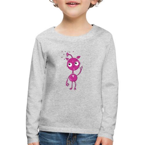 Kleines außerirdisches Mädchen - Kinder Premium Langarmshirt
