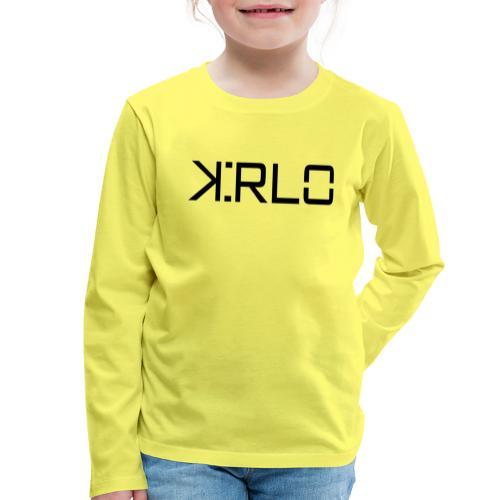 Kirlo Logotipo Negro - Camiseta de manga larga premium niño