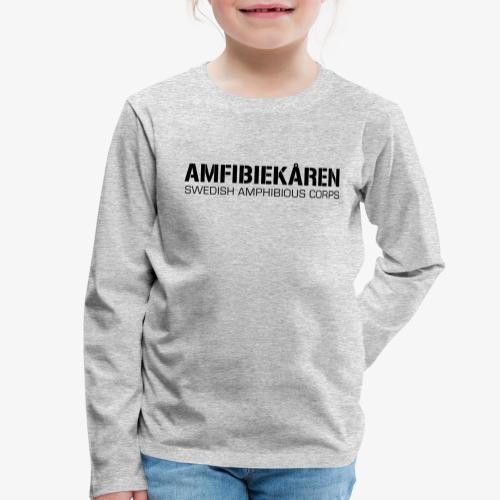 Amfibiekåren -Swedish Amphibious Corps - Långärmad premium-T-shirt barn
