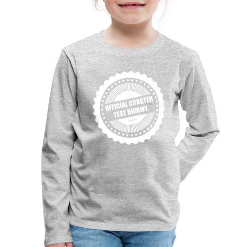Mannequin officiel de test de montagnes russes - T-shirt manches longues Premium Enfant