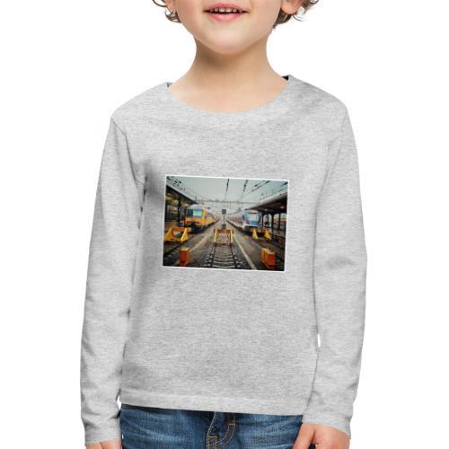 Intercity en Sprinter in Groningen. - Kinderen Premium shirt met lange mouwen