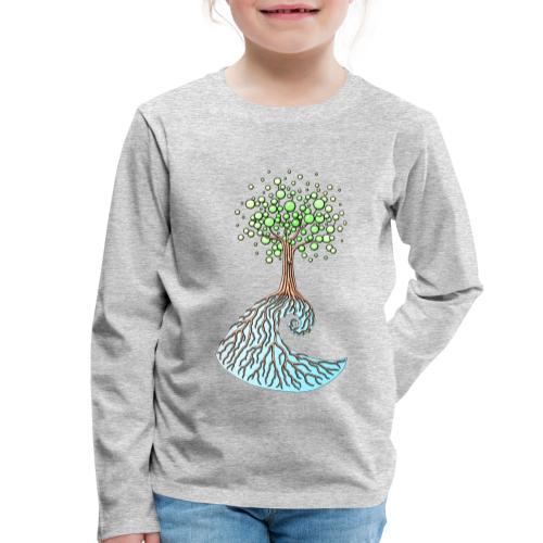 Wellenbaum - Kinder Premium Langarmshirt