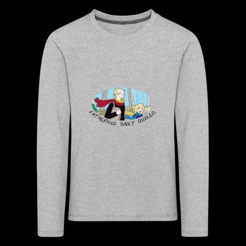 Fatherhood Badly Doodled - Kids' Premium Longsleeve Shirt