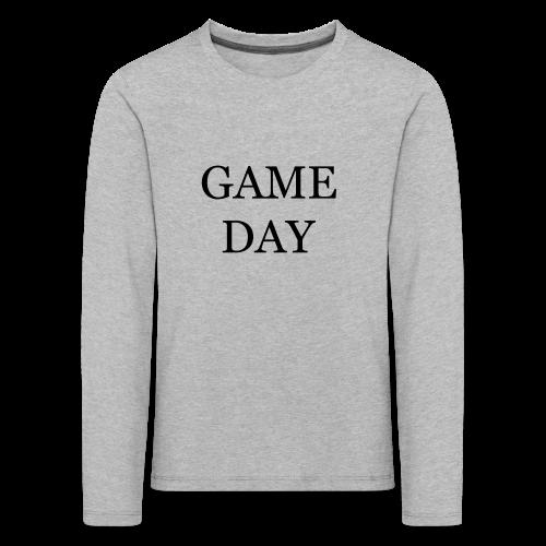 Game Day Collection - Premium langermet T-skjorte for barn