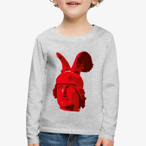 Kopf des Hermannsdenkmals - Kinder Premium Langarmshirt