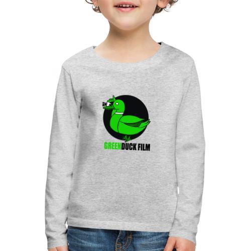 Greenduck Film Logo w. black letters - Børne premium T-shirt med lange ærmer