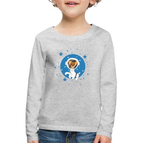 Kleiner Hund im Weltall - Kinder Premium Langarmshirt