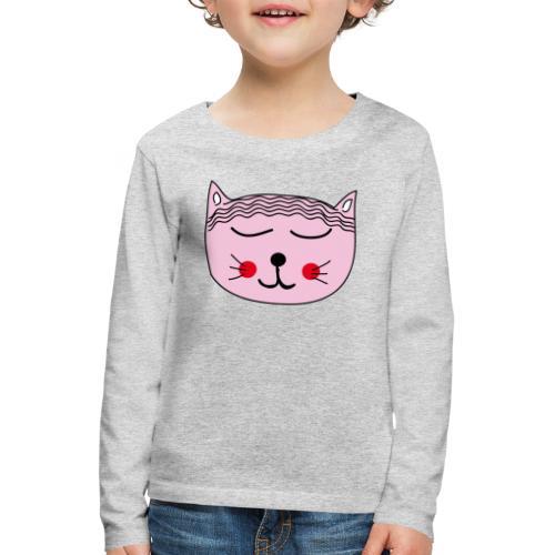 Katze Miau - Kinder Premium Langarmshirt