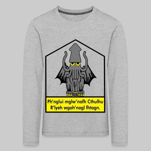 Cthulhu träumt in seinem Haus in R'lyeh - Kinder Premium Langarmshirt