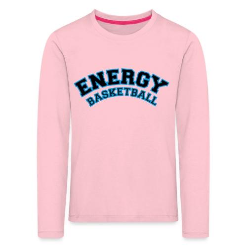 baby energy basketball logo nero - Maglietta Premium a manica lunga per bambini