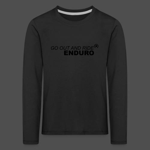 wyjdź i jedź enduro bk - Koszulka dziecięca Premium z długim rękawem