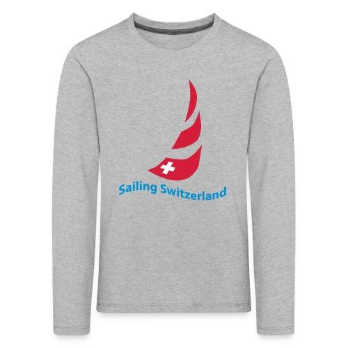 logo sailing switzerland - Kinder Premium Langarmshirt