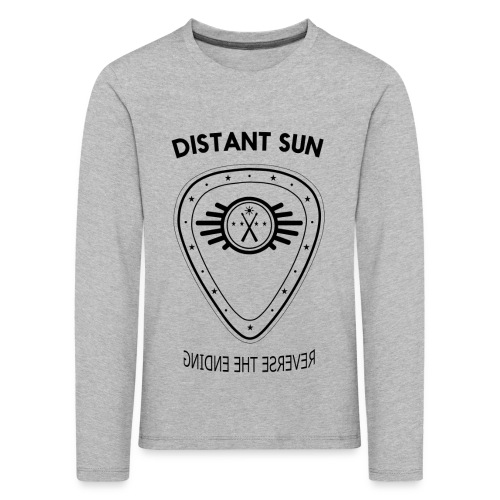 Distant Sun - Mens Slim Fit Black Logo - Kids' Premium Longsleeve Shirt