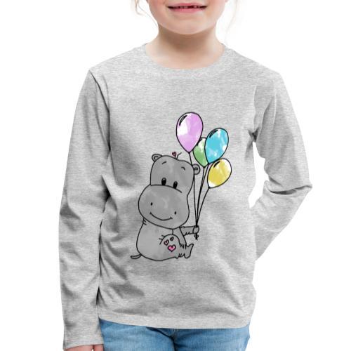 Hippo - Kinder Premium Langarmshirt