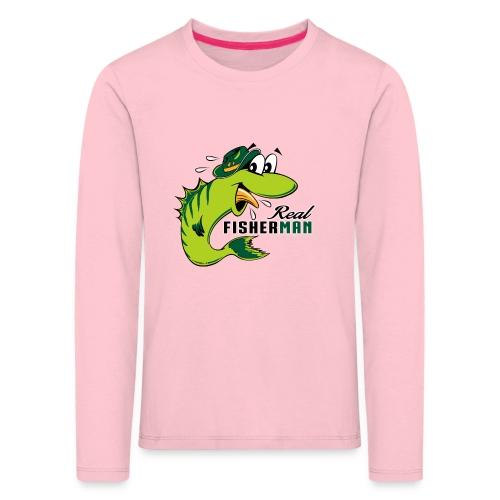 10-38 REAL FISHERMAN - TODELLINEN KALASTAJA - Lasten premium pitkähihainen t-paita
