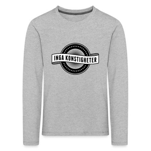 Inga Konstigheters klassiska logga (ljus) - Långärmad premium-T-shirt barn