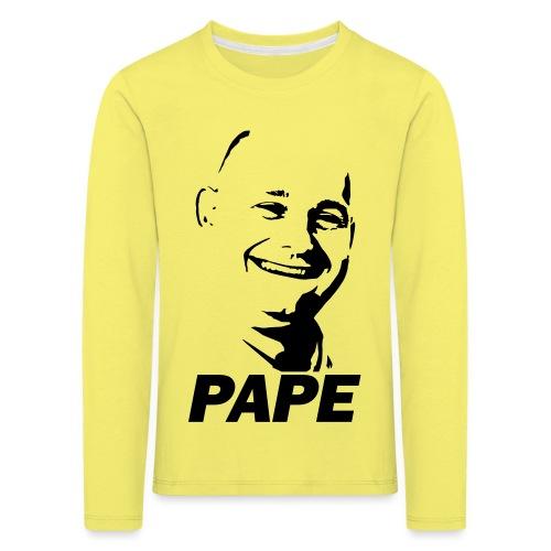 PAPE - Børne premium T-shirt med lange ærmer