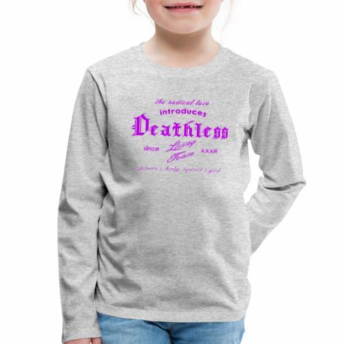deathless living team violet - Kinder Premium Langarmshirt