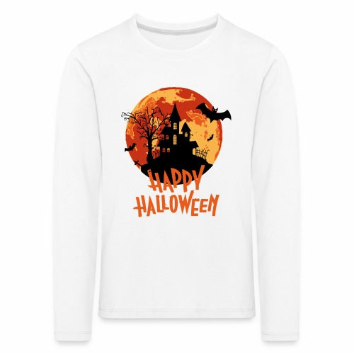 Bloodmoon Haunted House Halloween Design - Kinder Premium Langarmshirt