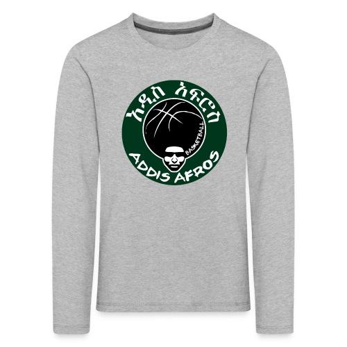 Afros greencicrcle bb - Kinder Premium Langarmshirt