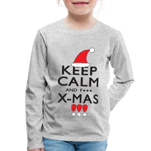 Keep calm XMAS - Kinder Premium Langarmshirt