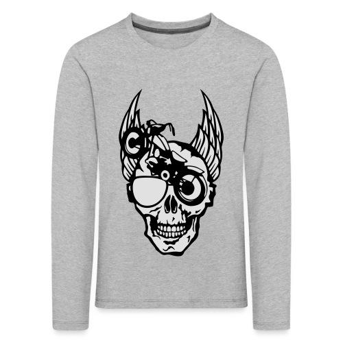 tete mort moto skull aile motard oeil - T-shirt manches longues Premium Enfant