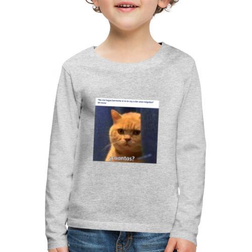 Cat nalgadas - Camiseta de manga larga premium niño