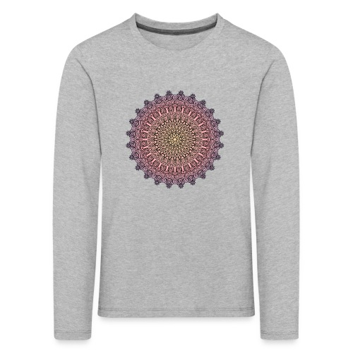 Mandala Sonnenuntergang - Kinder Premium Langarmshirt