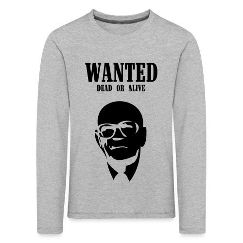 Kekkonen Wanted - Dead or Alive - Lasten premium pitkähihainen t-paita