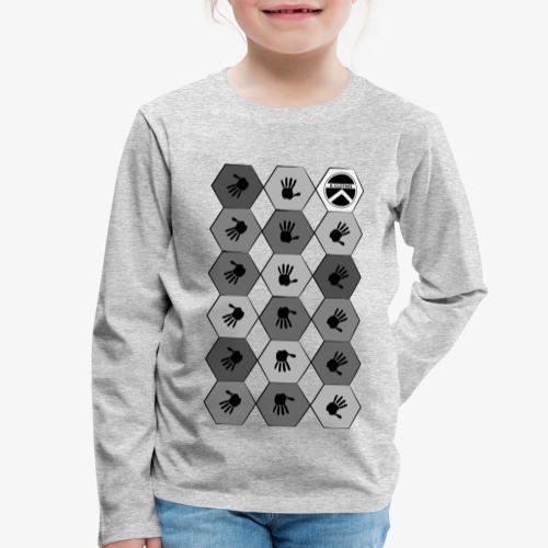 |K·CLOTHES| HEXAGON ESSENCE GREYS & WHITE - Camiseta de manga larga premium niño