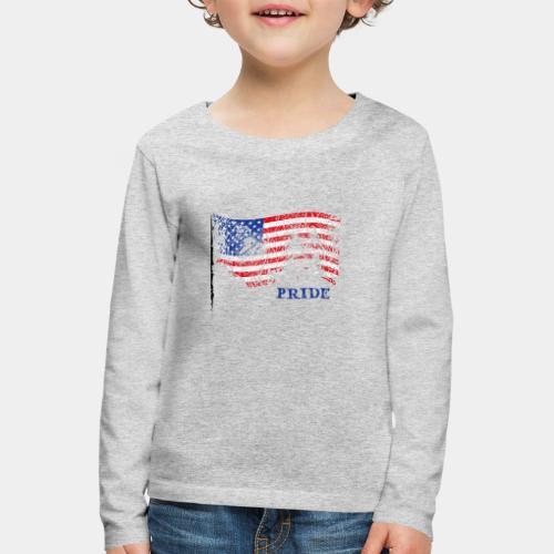 USA - Koszulka dziecięca Premium z długim rękawem
