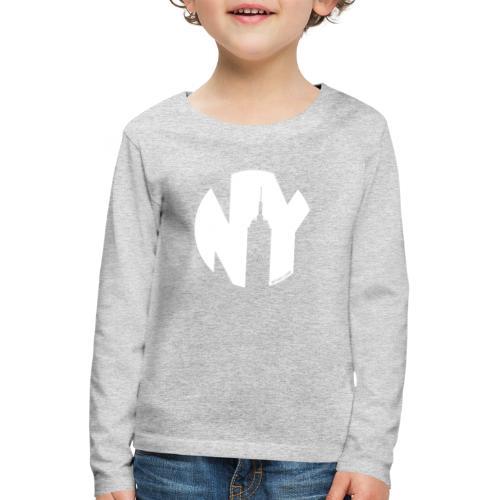Logo French Yorker blanc - T-shirt manches longues Premium Enfant