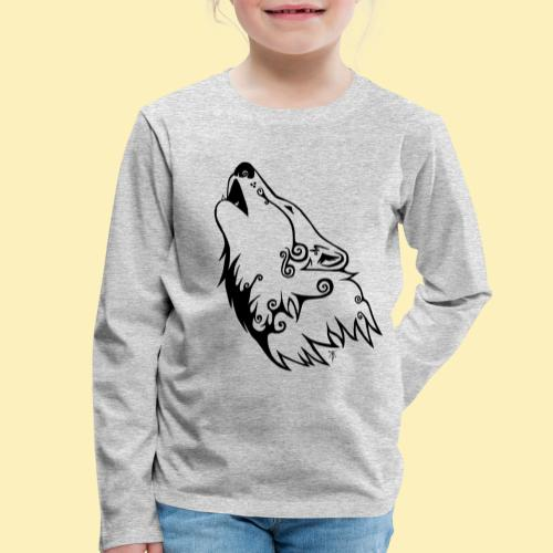 Le Loup de Neved (version traits) - T-shirt manches longues Premium Enfant
