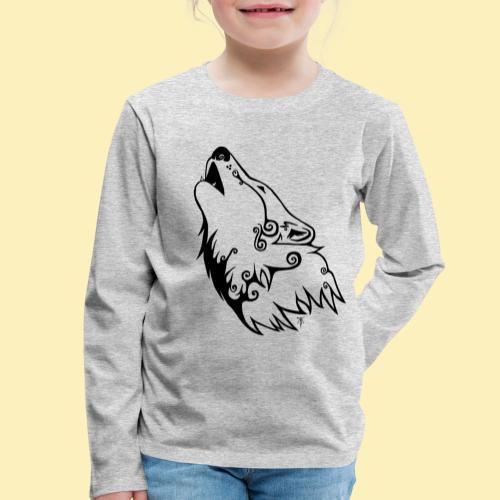 Le Loup de Neved (version traits) - T-shirt manches longues Premium Enfant