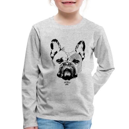 Französische Bulldogge Sketch - Kinder Premium Langarmshirt