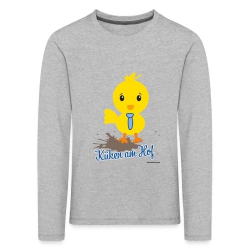 Küken am Hof, Design für Jungen - Kinder Premium Langarmshirt