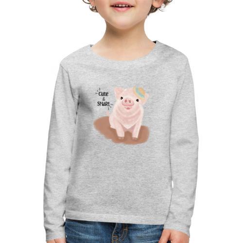 Cute & Smart Pig - Kids' Premium Longsleeve Shirt