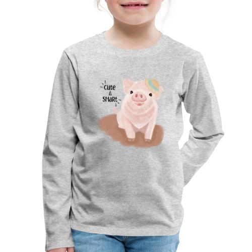 Cute & Smart Pig - Kids' Premium Longsleeve Shirt