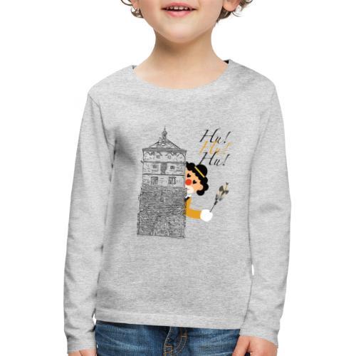Hu! Hu! Hu! Schwarzgelber Clown am Schwarzen Tor - Kinder Premium Langarmshirt