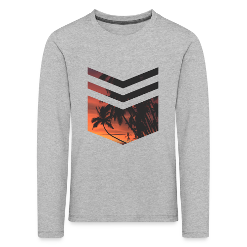Palm Beach Triangle - Kinder Premium Langarmshirt