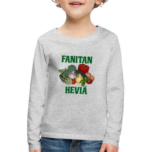 Fanitan heviä - Lasten premium pitkähihainen t-paita