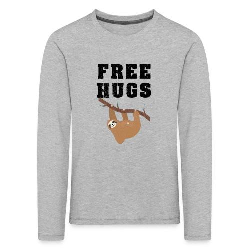 Funny Sloth Quotes - Kinder Premium Langarmshirt